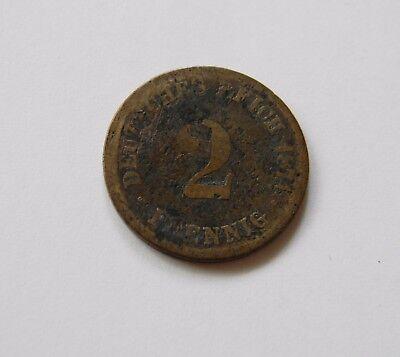 KAISERREICH: 2 Pfennig 1874 H, J. 2, SEHR SELTEN !!!
