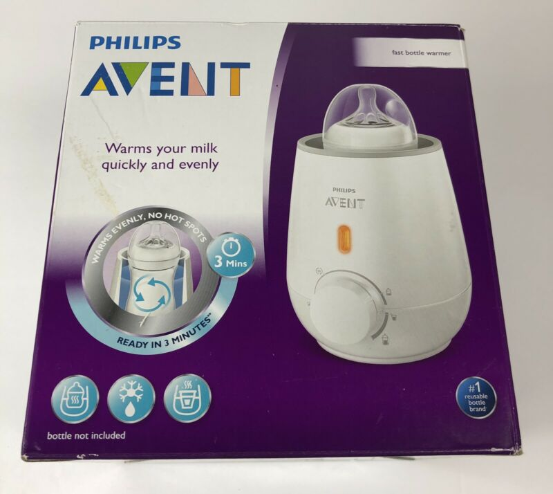 Philips Avent Fast Baby Bottle Warmer, SCF355/00 - NEW in Open Box