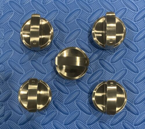 "WOLF CONTEMPORARY KNOB SET(stainless)FOR 36""(CT36G/S) COOKTOPS,see pics & desc."