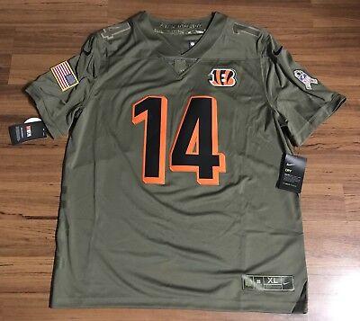 4ab8e9bf2fdca Nike Cincinnati Bengals Andy Dalton Salute To Service Football Jersey Mens  Sz XL