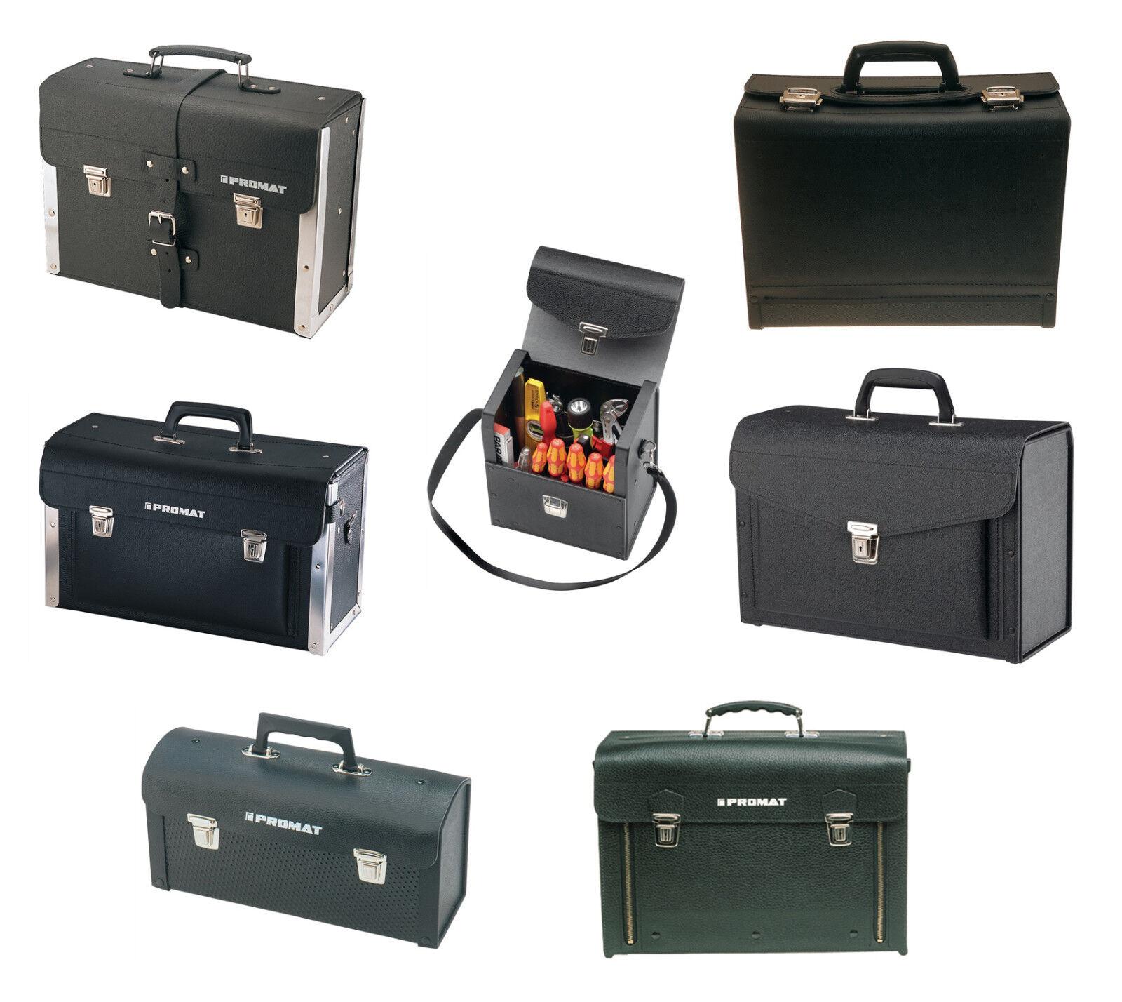 Promat AKTION Werkzeugtasche Rindleder / Industrieleder Tasche Koffer