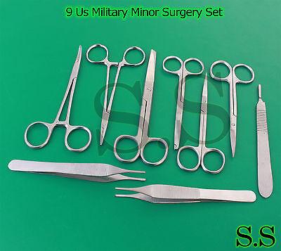 9 Pc Us Military Minor Surgery Suture Set Kit Ds-766