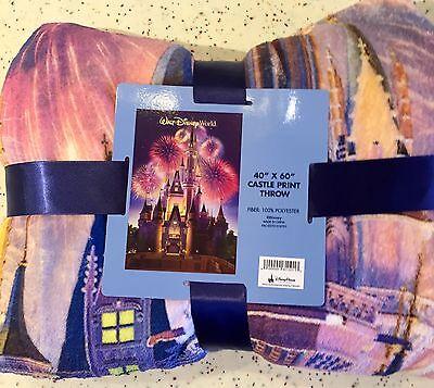Cinderellas Castle Throw Blanket Walt Disney World Theme Parks NEW