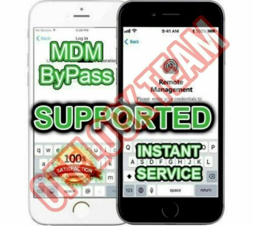 🔥 IOS 14  APPLE IPHONE iPAD MDM BYPASS, UNLOCK REMOTE PROFILE REMOVE INSTANT