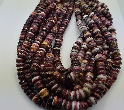Purple Spiny Oyster Shell Beads Rondelle 10 MM Beads 16 Inch Strand