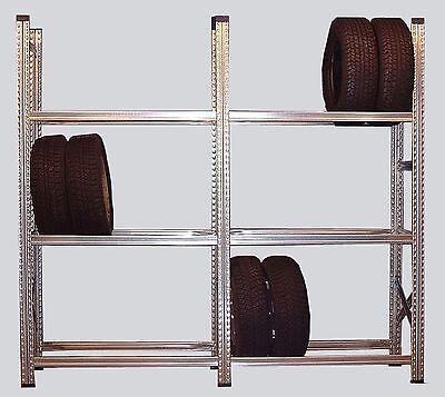 2 Felder Reifenregal Felgenregal  L248cm für Kompletträder geeignet Metalsistem