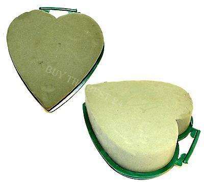 Herzform Steckschaum,mit Plastikunterl, Blumen-Tischgesteck Herz Steckmoos Grün