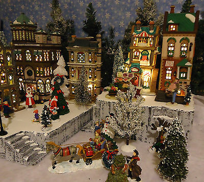 Christmas B Snow Village Display Platform Base Dept 56 Lemax Nicholas Square