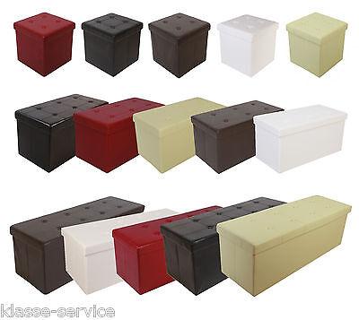 Sitzhocker Sitzwürfel Sitzbank Aufbewahrungsbox Hocker Ottomane Faltbar Auswahl online kaufen