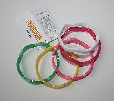 New Gymboree Multi-Color Wavy Bangle Bracelets One Size NWT