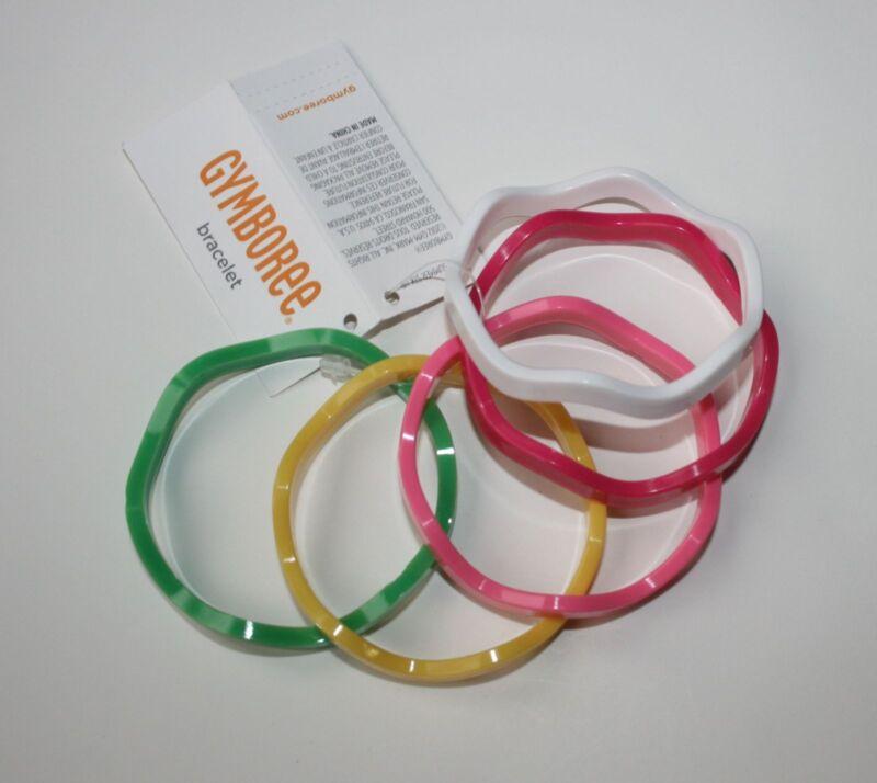 New Gymboree Girls Multi-Color Wavy Bangle Bracelets One Size NWT