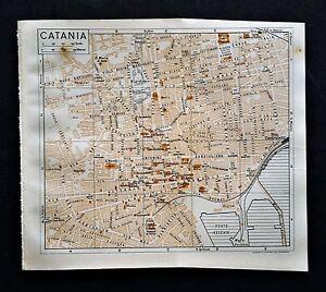 XX-Sec-Da-Guida-Russel-Muirhead-039-s-Orig-Topogr-CATANIA-SICILIA-SUD-ITALIA