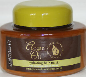 HYDRATING HAIR MASK 220ml WITH MOROCCAN ARGAN OIL EXTRACT CONDITIONING TREATMENT