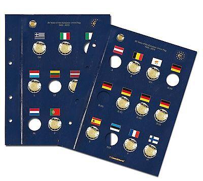 """Leuchtturm Münzblätter Vista für 2 Euro """"30 Jahre EU-Flagge"""""""