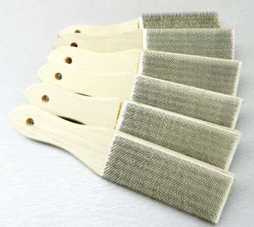 6 File Card Cleaners File Brush Clean Files Remove Chips Metal Bits Lutz #10 USA