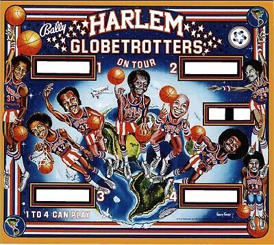 Bally Harlem Globetrotters pinball machine translite replacement