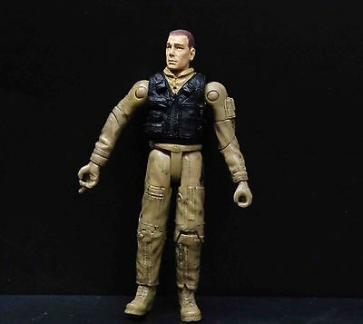 """BBI ELITE FORCE U.S.A.  MH-6 LITTLE BIRD  HELICOPTER PILOT solider 3 3/4 """" 1/18, used for sale  Shipping to United States"""