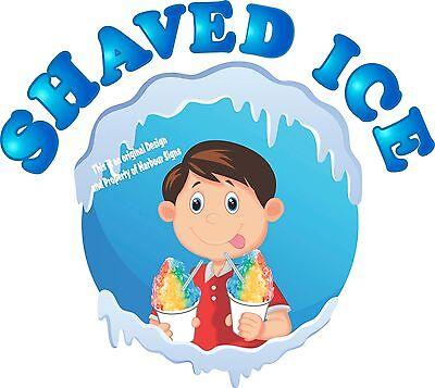 Shaved Ice Decal 14 Snow Cones Sno Kones Concession Food Truck Vinyl Sticker