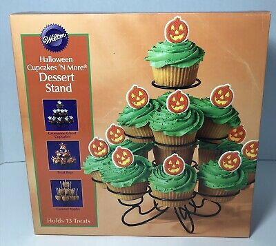 Wilton Halloween Cupcake Stand (NIB WILTON Halloween Cupcakes n More Dessert Stand Holds)