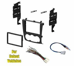 Double Din Car Stereo Radio Install Dash Mount Kit Combo for 07-12 Nissan Altima