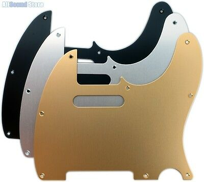 BRUSHED ANODIZED ALUMINUM Pickguard for Fender® Standard USA/MIM Telecaster Tele Fender Tele Pickguards