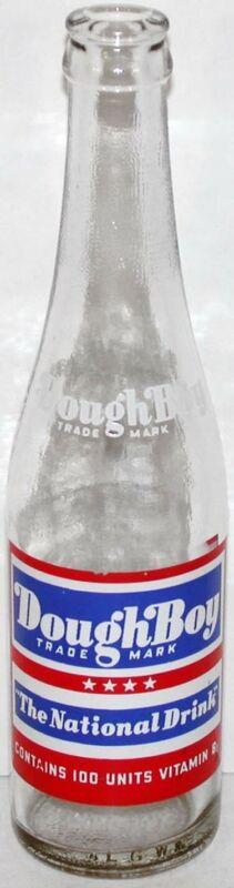 Vintage soda pop bottle DOUGHBOY The National Drink 3 color 1943 Pittsburgh nrmt
