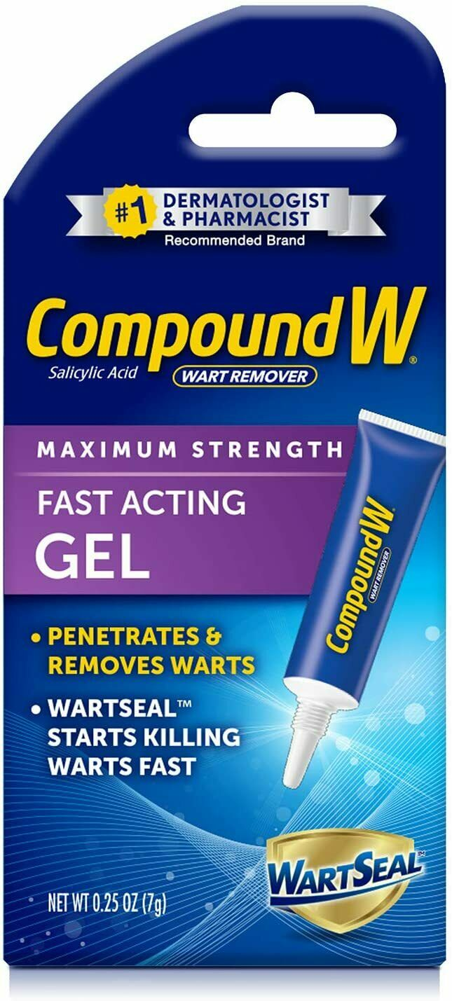 Wart Remover Compound W Maximum Strength Fast Acting Gel, 0.