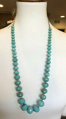 New Auth Chan Luu Faceted Turquoise Adjustable Long Necklace Chan Luu Turquoise Necklace