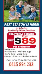 Prime pest control from$89 all suburb's