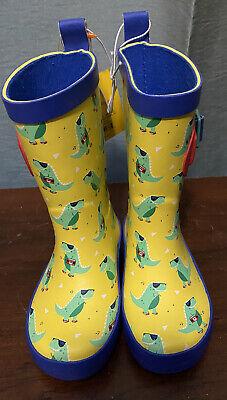 ** NWT- Boys Dinosaur Rain Boots- Sz Small 5/6