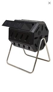 Double chamber compost tumbler