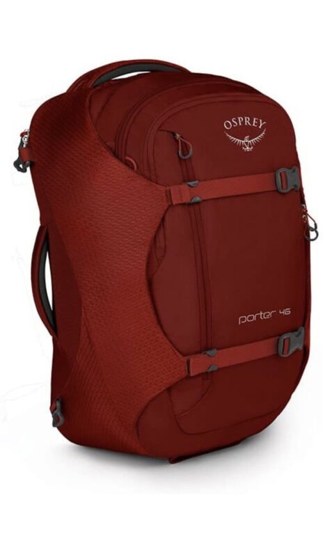 Osprey Porter 46 Travel Backpack Diablo Red NWT