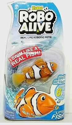 ZURU Robo Alive Water Activated Clownfish Nemo Real-Life Robotic Pets! *NEW*