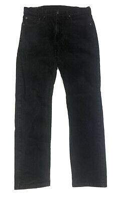 Levi's 502 Black Regular Taper Fit Red Tab Denim Jeans Size 32 X 30