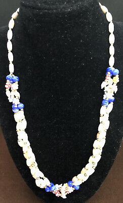 60s -70s Jewelry – Necklaces, Earrings, Rings, Bracelets Vtg 1960s Necklace Plastic & Porcelain Beads Dolphins & Florals $13.99 AT vintagedancer.com
