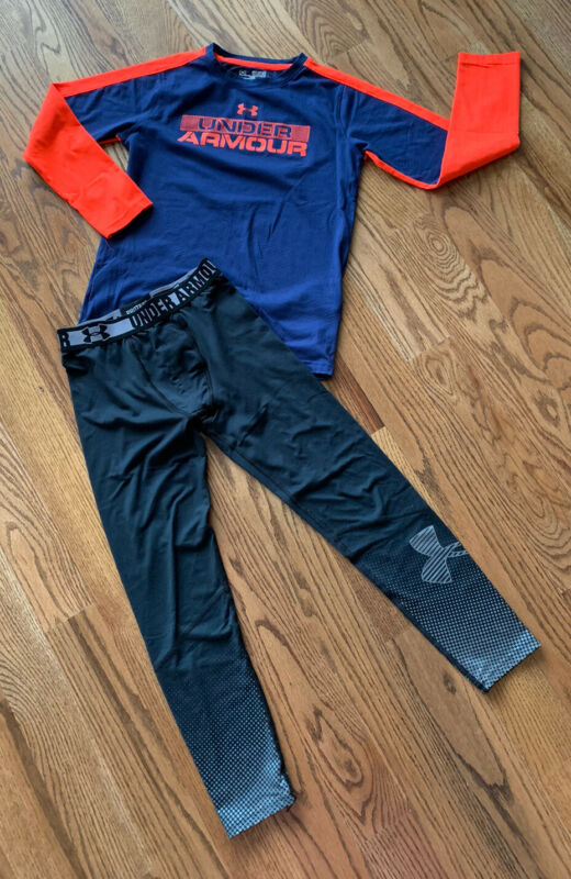 Under Armour Cold Gear Base Layer Fitted Pants/Shirt Boy