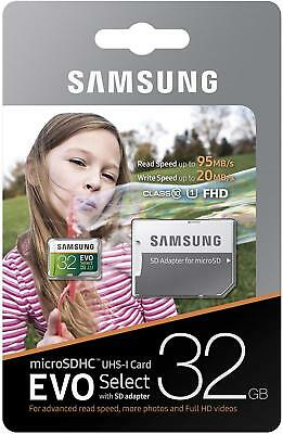 Micro SD Memory Card 32 GB Samsung EVO Select 95MB/s SDHC Android Galaxy S9 S8  segunda mano  Embacar hacia Argentina