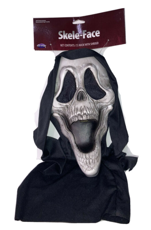 Skeleton Mask Halloween Fun World - New With Tags