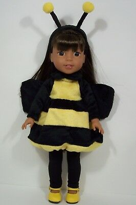 Halloween Bumble Bee Costume Doll Clothes For AG 14