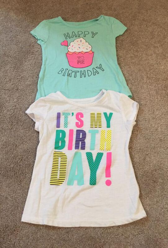 NEW Girls Okie Dokie Happy Birthday To Me Short Sleeve Tee Shirt Top-sz 3T Lot
