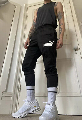 PUMA SLIM DRY FIT trackies / Trousers /joggers, Mens Small, VGC, Zip Ankle