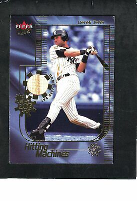 DEREK JETER YANKEES SS 2002 ULTRA ''HITTING MACHINES'' BAT RELIC CORNER DING