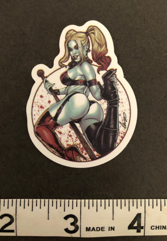 Sexy Harley Quinn, Suicide Squad Sticker, Comic, Movie