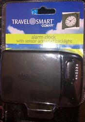 Travel Smart Conair Alarm Clock With Sensor Activated Backlight Free Shipping