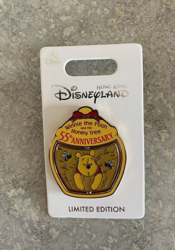 Disney HKDL Hong Kong Disneyland 55th Anniversary Winnie The Pooh Pin LE 600