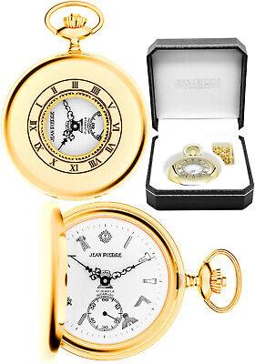 Jean Pierre Masonic Half Hunter Pocket Watch, 17 Jewel, Gold Plated Case (g124)