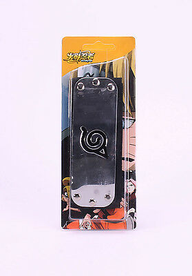 Naruto Anime Cosplay Kakashi Sasuke Ninja Headband: Leaf Village (Black) NEW