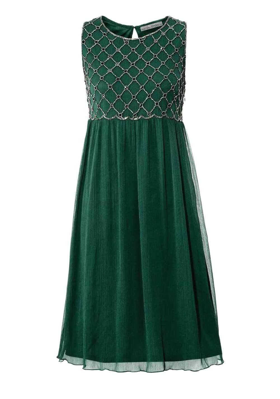 blau-bunt Linea Tesini Damen Designer-Kleid mit Spitze ...