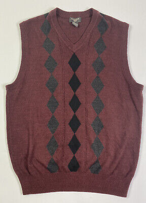 Dockers Sweater Vest Mens XL Argyle / Diamond V-Neck Sleeveless Acrylic Golf