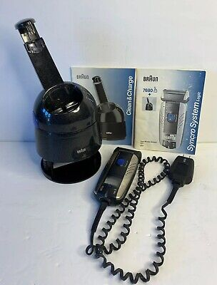 Braun Syncro System Cordless Shaver 7680 & Clean & Charge Base SET Ships FREE! Braun Syncro Shaver System